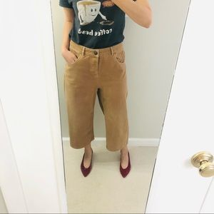 ASOS high waisted cropped wide leg pants